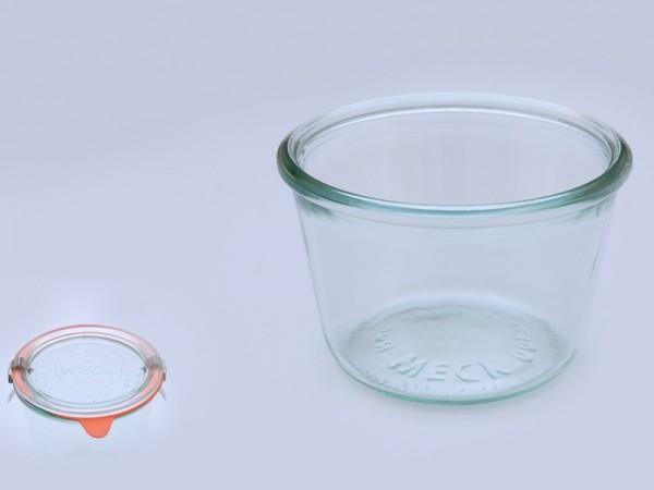 WECK Sturzglas 370 ml (1/4 Liter) inkl. Glasdeckel 6 St Gläser