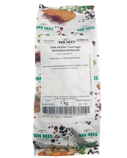 Thüringer Delikatess-Rotwurst Gewürzmischung VAN HEES