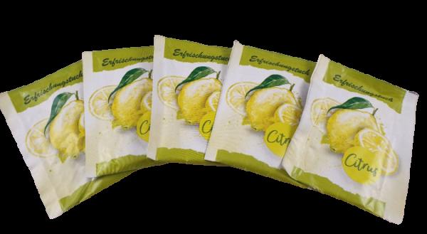 Erfrischungstücher Citrustücher, feucht, einzeln verpackt, 250 Stk.