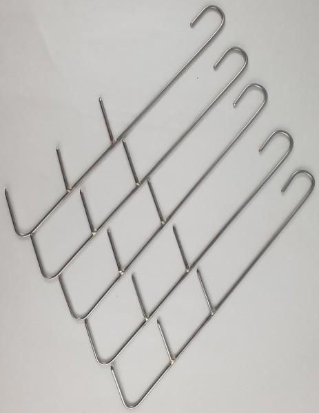 Fisch-Räucherhaken 3 Spitzen Edelstahl 20 cm/ 2,4mm 5 Stück