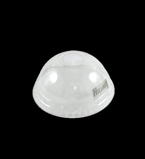 Trinkbecher-Deckel PET glasklar Flach- und Domdeckel