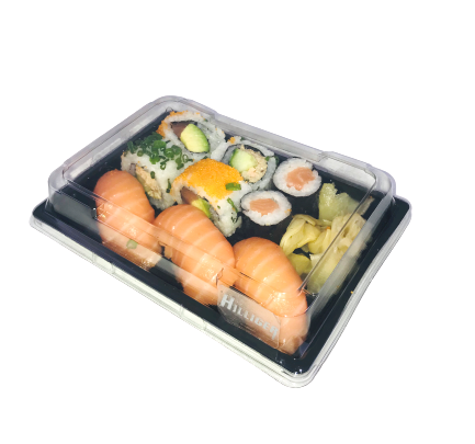 Sushi Box to Go mit Deckel Sushi-Trays