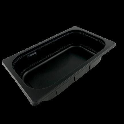 PP- Menüschale 1/4 Gastronorm Siegelschale schwarz 200 St