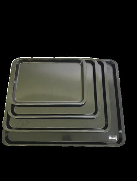 Melamin Platten Auslageplatte schwarz verschieden Größen