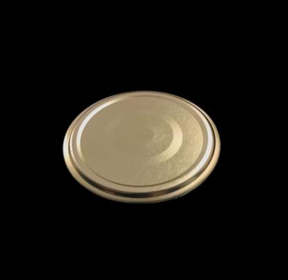 Deckel für Twist Off Gläser 66mm gold VE 15 Stück