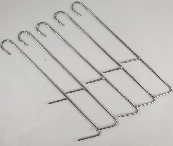 Fisch-Räucherhaken Edelstahl 2,4mm Länge 200mm mit 2 oder 3 Spitzen Pkt. 5 St