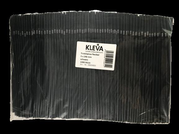Strohhalm Trinkhalm 5mm schwarz 240mm flexibel 1000 Stück