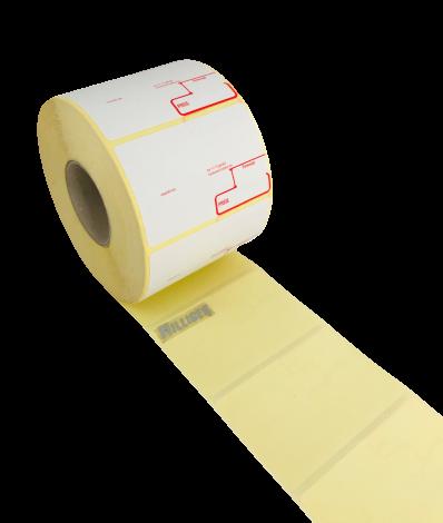 Thermoetiketten 68x43 mm für Bizerba Haftetiketten