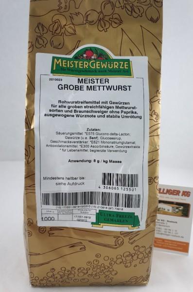Meistergewürz Grobe Mettwurst