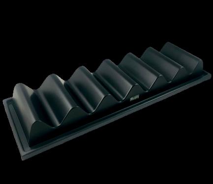 Snackpresenter 6 Ablagen Brötchenhalter schwarz