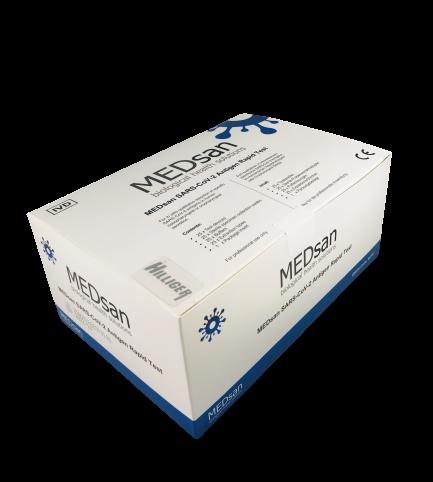 Coronavirus Antigen Schnelltest 25 Stück RKI gelistet MEDsan