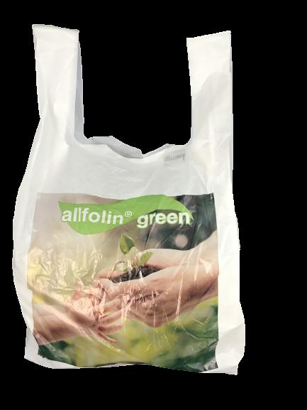 Hemdchen-Tragetaschen Bio ''allfolin green'' VE 100 St kompostierbar