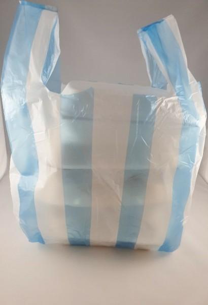 Hemdchentragetaschen BLAU-WEIß groß 30+18x55cm