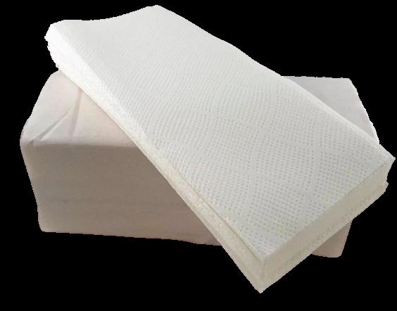 Falthandtücher 2 lagig weiß