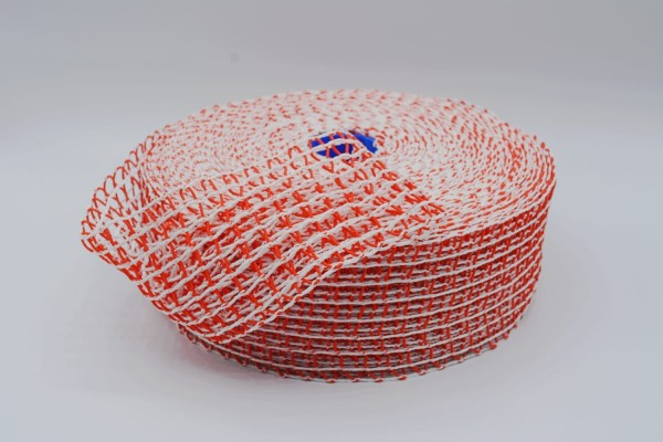 Schinkennetz rot-weiß Rolle 50m verschiedene Kaliber