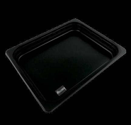 PP- Menüschale 1/2 Gastronorm Siegelschale schwarz 100 St