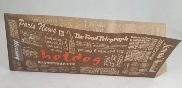 Hot Dog Tüten Beutel braun mit Druck VE 1000 St.