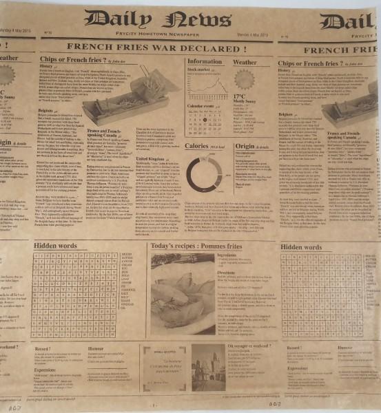 """Burger-Papier braun""""Newsprint"""" 40x38cm VE 500 St."""