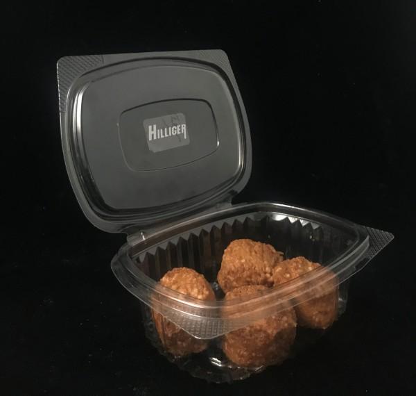 Salatschale Verpackungsschale 250/500g oval mit anhängigem Deckel 50 St.