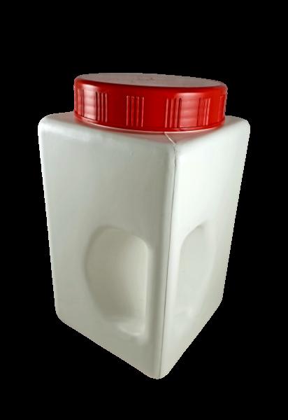 Gewürzdose Vorratsdose weiß mit rotem Deckel