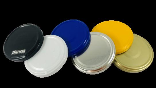 Deckel für Twist Off Gläser 82mm einfarbig VE 15 St