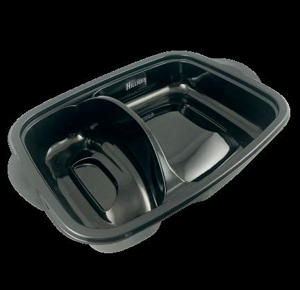 Mikrowellenschale Menüschale schwarz 300 St