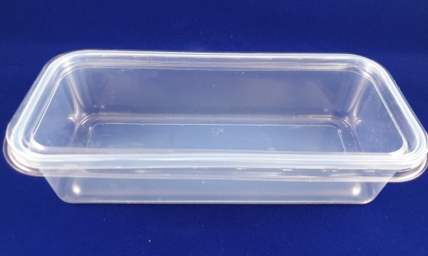 Rechteck Salatschale länglich transparent 500ml und 1000ml