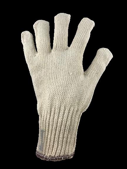 Strickhandschuhe mit braunem Bund VE 24 Stück