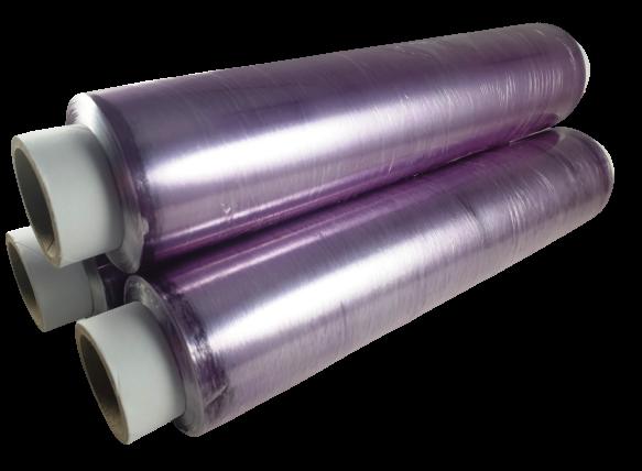 Frischhaltefolie PVC Länge 300m lila verschiedene Breiten