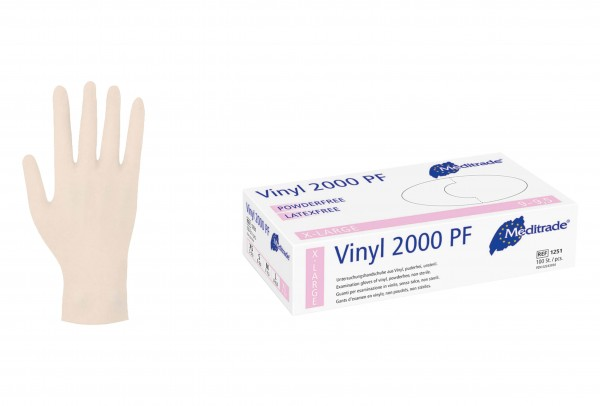 Einmalhandschuhe MEDITRADE Vinyl puderfrei 100 St