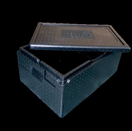 Isolier-Transportbehälter PREMIUM Thermobox 1/1 Gastronorm mit Deckel schwarz