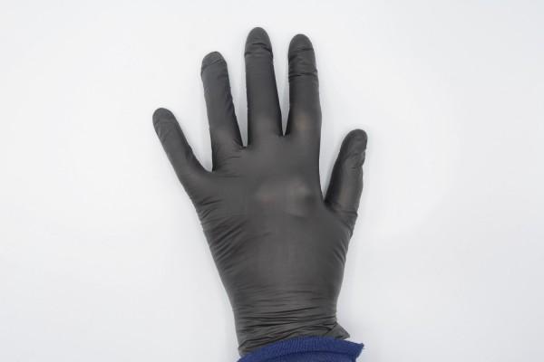 Einmalhandschuhe NITRIL schwarz 200 St VORTEILSPACK