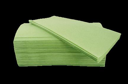 Falthandtücher 2 lagig grün 25x21 cm VE 160 St.