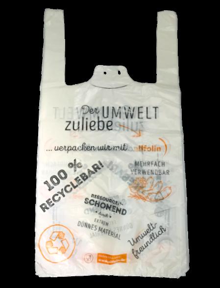 Hemdchenbeutel BIO ,,Der Umwelt zuliebe'' allfolin 25+12x46 cm