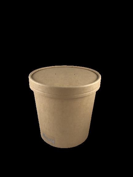 Deckel für Suppenbecher Soup to go braun VE 50 Stück