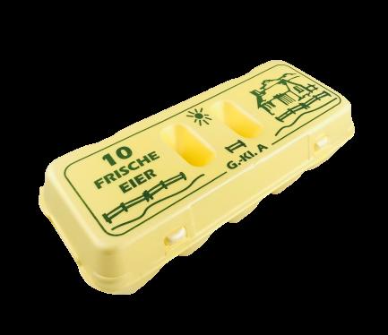 Eierverpackung 10er gelb L - XL Eierpappe 120 St.