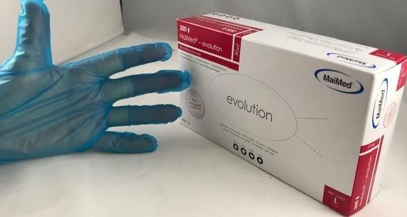 Einmalhandschuhe LLDPE blau 200 Stk Evolution MAIMED Vorteilspack Gr.L