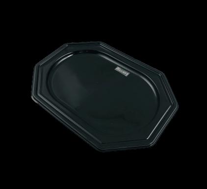 Partyplatten 10St 27x19cm PET Catering Trays 8eck schwarz