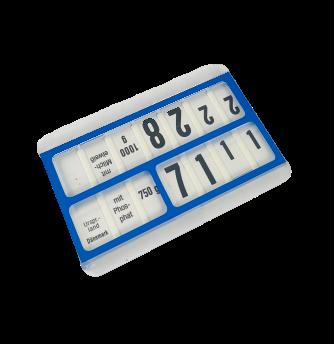 Preiskassette Preisschild 6x9cm rot oder blau