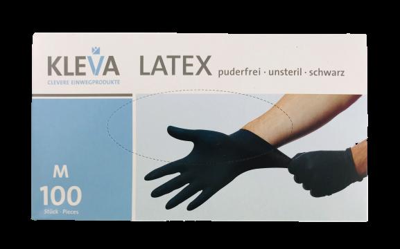 Einmalhandschuhe LATEX schwarz puderfrei 100 St