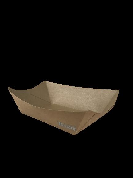 Pappschale Foodtray Snackschale Kraftpapier braun versch. Größen VE 250 St
