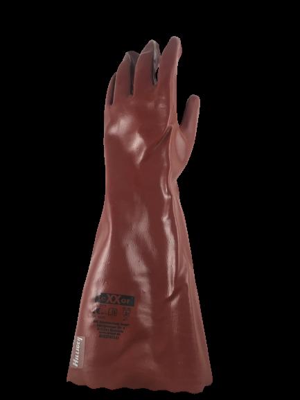 Handschuh PVC rot 45cm lang VE 1 Paar