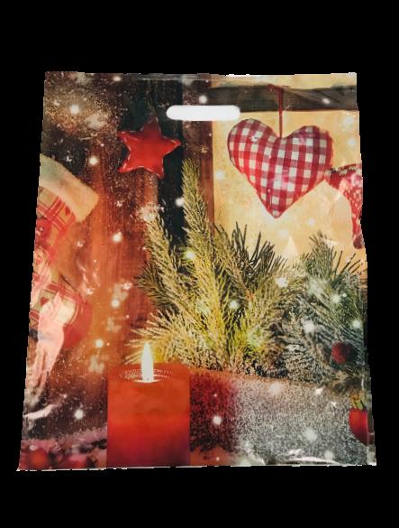 Tragetasche Weihnachtstraum 38x45x10 cm LDPE 500 Stück