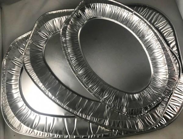 10 St Partyplatten Aluminium versch. Größen