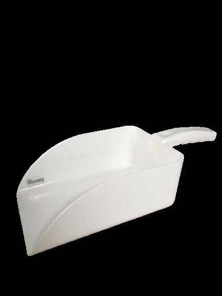 Abwiegeschaufel Kunststoff weiß eckig 500 750 1000ml