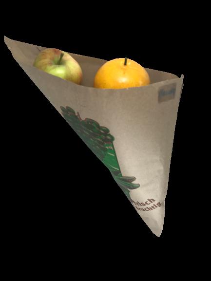 Obstspitztüten braun gefädelt 1000 St