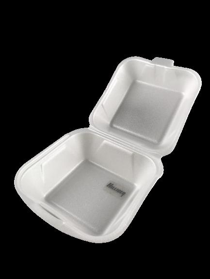 Menübox Hamburger Box groß ungeteilt Einweg weiß 155×155×80 mm VE 125 St.
