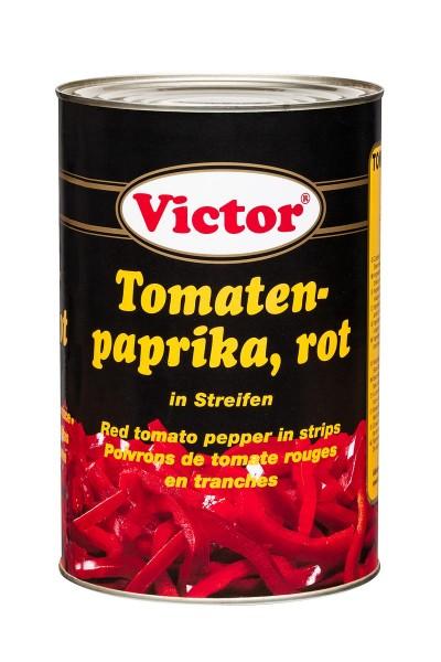Tomatenpaprika rot in der Dose
