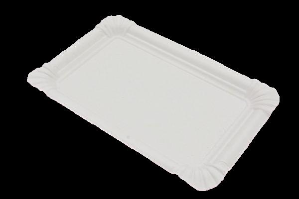 Pappteller weiß eckig verschiedene Größen