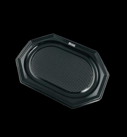 Partyplatten PET Catering Trays 8eck schwarz 10St